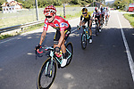 The peloton including race leader Primoz Roglic (SLO) Team Jumbo-Visma during Stage 14 of La Vuelta 2019  running 188km from San Vicente de la Barquera to Oviedo, Spain. 7th September 2019.<br /> Picture: Luis Angel Gomez/Photogomezsport | Cyclefile<br /> <br /> All photos usage must carry mandatory copyright credit (© Cyclefile | Luis Angel Gomez/Photogomezsport)