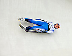 6 February 2009: Aya Yasuda from Japan slides through a curve in the Women's Competition at the 41st FIL Luge World Championships, in Lake Placid, New York, USA. .  .Mandatory Photo Credit: Ed Wolfstein Photo