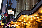Theatre Marquee for  'The Play That Goes Wrong' during the Broadway Opening Night  at the Lyceum Theatre on April 2, 2017 in New York City.