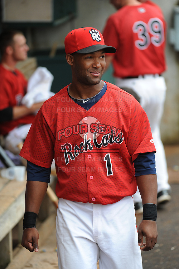 New Britain Rock Cats infielder Danny Santana (1) during game against the Binghamton Mets at New Britain Stadium on May 23 2013 in New Britain, Connecticut.  New Britain defeated Binghamton 1-0.  Tomasso DeRosa/Four Seam Images