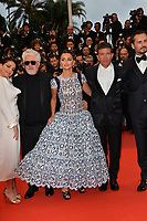 "CANNES, FRANCE. May 17, 2019: Nora Navas, Pedro Almodovar, Penelope Cruz & Antonio Banderas; at the gala premiere for ""Pain and Glory"" at the Festival de Cannes.<br /> Picture: Paul Smith / Featureflash"