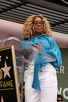 LOS ANGELES - JAN 28:  Mary J Blige at the Taraji P. Henson Star Ceremony on the Hollywood Walk of Fame on January 28, 2019 in Los Angeles, CA