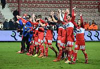 1/8 finale Croky Cup<br /> KV KORTRIJK - R ANTWERP FC :<br /> spelers van KV Kortrijk vieren hun zege met de fans<br /> <br /> Foto VDB / Bart Vandenbroucke