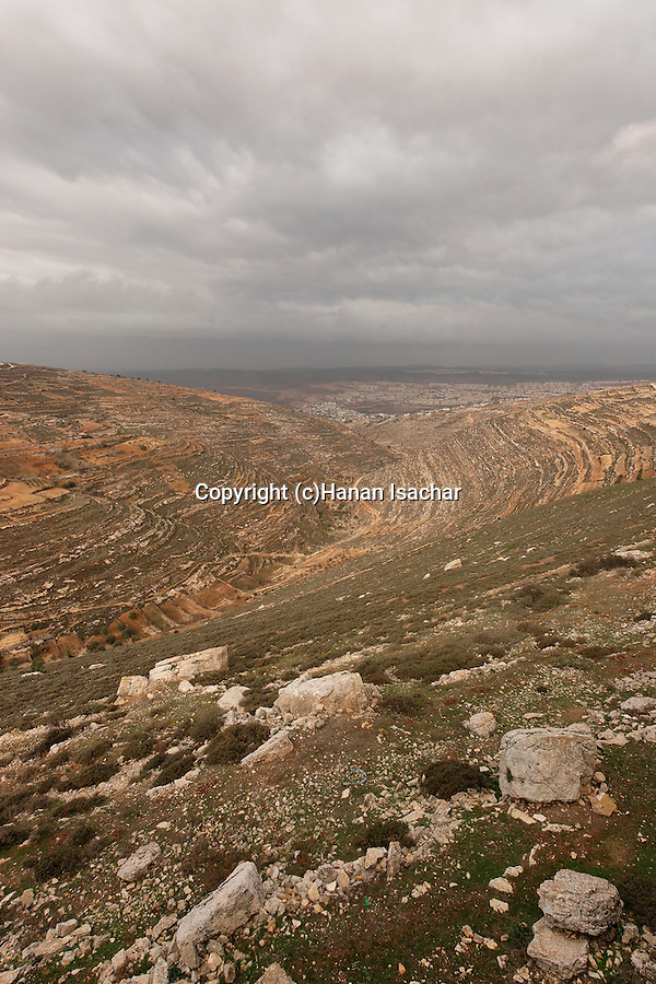 "Judea, Gush Etzion. Looking west from the ""Path of the Patriarchs"""