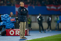 VIENNA, Austria - November 19, 2013: Manager Jurgen Klinsmann during a 0-1 loss to host Austria during the international friendly match between Austria and the USA at Ernst-Happel-Stadium.