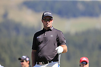 Ryan Fox (NZL) on the 14th tee during Sunday's Final Round 4 of the 2018 Omega European Masters, held at the Golf Club Crans-Sur-Sierre, Crans Montana, Switzerland. 9th September 2018.<br /> Picture: Eoin Clarke | Golffile<br /> <br /> <br /> All photos usage must carry mandatory copyright credit (&copy; Golffile | Eoin Clarke)