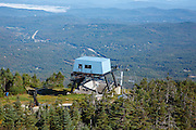 Franconia Notch State Park - The summit of Cannon Mountain in the White Mountains, New Hampshire USA