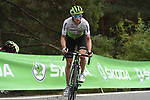 Benjamin King (USA) Team Dimension Data on the final climb at the end of Stage 20 of the La Vuelta 2018, running 97.3km from Andorra Escaldes-Engordany to Coll de la Gallina, Spain. 15th September 2018.                   <br /> Picture: Colin Flockton | Cyclefile<br /> <br /> <br /> All photos usage must carry mandatory copyright credit (© Cyclefile | Colin Flockton)