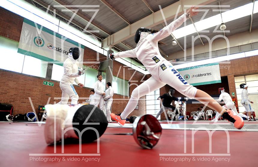 BOGOTA – COLOMBIA – 25 – 05 – 2017: Deportistas de Italia, durante entreno del Gran Prix de Espada Bogota 2017, que se realiza en el Centro de Alto Rendimiento en Altura, del 26 al 28 de mayo del presente año en la ciudad de Bogota.  / Athletes from Italy, during training of the Grand Prix of Espada Bogota 2017, that takes place in the Center of High Performance in Height, from the 26 to the 28 of May of the present year in The city of Bogota. / Photo: VizzorImage / Luis Ramirez / Staff.
