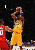 January 15, 2010; Kobe Bryant #24 of the Los Angeles Lakers during the game. The Los Angeles Lakers defeated the Los Angeles Clippers by the final score of 126-86 at Staples Center in downtown Los Angeles, CA. Photo by Icon SMI/Actionplus. UK Licenses Only