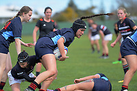Action from the 2019 Hurricanes Youth Council Under-15 Girls' Rugby Tournament match between Palmerston North Girls' High School and Feilding High School at Playford Park in Levin, New Zealand on Tuesday, 3 September 2018. Photo: Dave Lintott / lintottphoto.co.nz