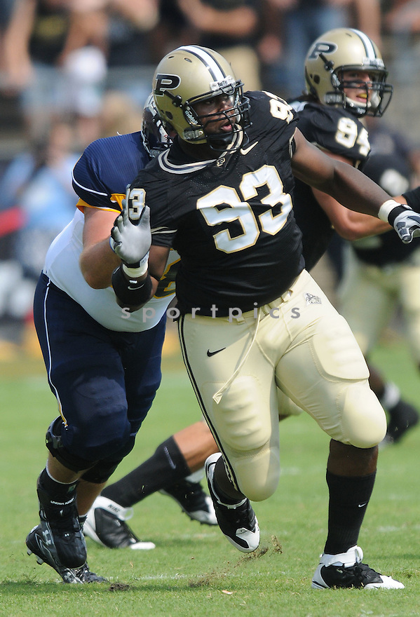 KAWANN SHORT, of the Purdue Boilermakers, in action during the Boilermakers game against Toledo Rockets in West Lafayett, In on September 5, 2009.  Purdue beats Toledo 52-31.