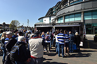 Supporters queue up at the Bath Rugby Merchandise shop. The Clash, Aviva Premiership match, between Bath Rugby and Leicester Tigers on April 8, 2017 at Twickenham Stadium in London, England. Photo by: Patrick Khachfe / Onside Images