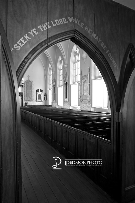 Black and White, Church, Archway, Religious
