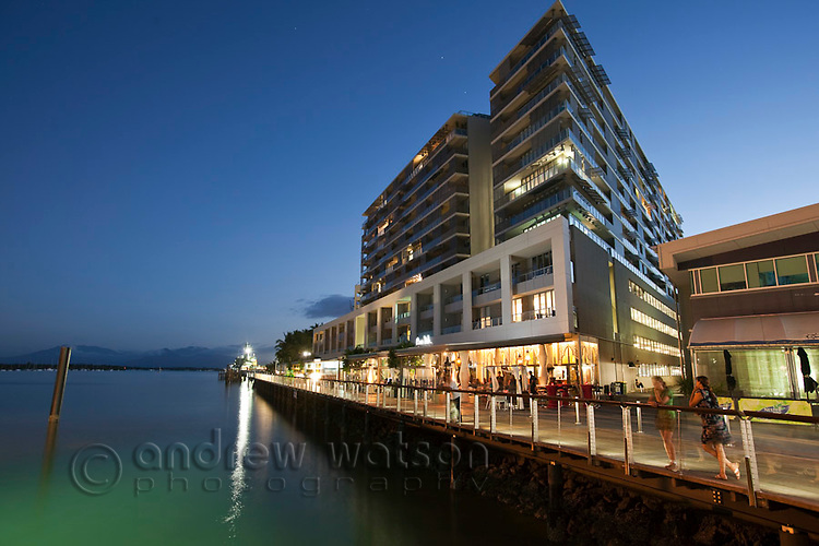 Harbour Lights apartments on the waterfront.  Cairns, Queensland, Australia
