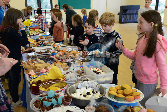 06/03/2015 - Le Cheile Mornington - enjoying the annual bake sale. No names. I was told that it's school policy not to allow children's names to be printed. - Andy Picture: newsfile.ie