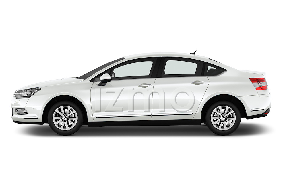 Car Driver side profile view of a 2016 Citroen C5-Berline Business 4 Door Sedan Side View