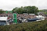 07.05.2010, Arena Auf Schalke, Gelsenkirchen, GER, 74. IIHF WM, Gruppe D, Deutschland ( GER ) vs USA ( USA ) im Bild: Blick auf das Fanfest vor der Veltins Arena Foto © nph /  Florian Mueller