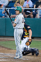 July 19, 2007: Boise Hawks' Ty Wright gets the signs from the third base coach during a Northwest League game against the Everett AquaSox at Everett Memorial Stadium in Everett, Washington.