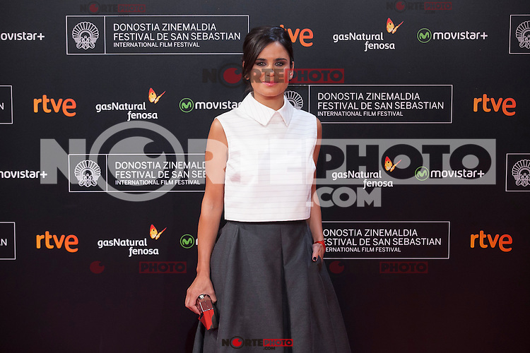 Elena Sanchez poses before 63rd Donostia Zinemaldia opening ceremony (San Sebastian International Film Festival) in San Sebastian, Spain. September 18, 2015. (ALTERPHOTOS/Victor Blanco) /NortePhoto.com