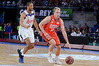 Real Madrid's Anthony Randolph and Valencia Basket's Luke Sikma during Quarter Finals match of 2017 King's Cup at Fernando Buesa Arena in Vitoria, Spain. February 19, 2017. (ALTERPHOTOS/BorjaB.Hojas)