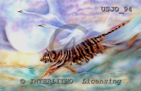 Marie, REALISTIC ANIMALS, REALISTISCHE TIERE, ANIMALES REALISTICOS, paintings+++++VictoriousFlight,USJO94,#A# ,Joan Marie, tiger