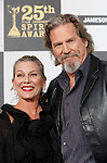 US actor Jeff Bridges and his wife Susan arrive at the 25th Independent Spirit Awards held at the Nokia Theater in Los Angeles on March 5, 2010. The Independent Spirit Awards is a celebration honoring films made by filmmakers who embody independence and originality..Photo by Nina Prommer/Milestone Photo
