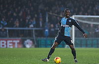 Anthony Stewart of Wycombe Wanderers on the ball during the Sky Bet League 2 match between Wycombe Wanderers and Morecambe at Adams Park, High Wycombe, England on 2 January 2016. Photo by Andy Rowland / PRiME Media Images