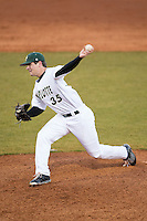 Charlotte 49ers relief pitcher Jacob Craver (35) in action against the Rice Owls at Hayes Stadium on March 6, 2015 in Charlotte, North Carolina.  The Owls defeated the 49ers 4-2.  (Brian Westerholt/Four Seam Images)