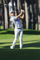 Haotong Li (CHN) plays his 2nd shot on the 3rd hole during Saturday's Round 3 of the 2018 Turkish Airlines Open hosted by Regnum Carya Golf &amp; Spa Resort, Antalya, Turkey. 3rd November 2018.<br /> Picture: Eoin Clarke | Golffile<br /> <br /> <br /> All photos usage must carry mandatory copyright credit (&copy; Golffile | Eoin Clarke)