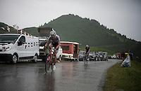 Frank Schleck (LUX/Trek-Segafredo) coming down the Col de Joux Plane (HC/1691m/11.6km/8.5%)<br /> <br /> Stage 20: Meg&egrave;ve &rsaquo; Morzine (146.5km)<br /> 103rd Tour de France 2016