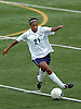 New Hyde Park, NY - November 11, 2009: South Side High School senior No. 21 Crystal Dunn heads downfield during the Nassau County varsity girls' soccer Class A final vs. Division Avenue at Tully Park. After becoming a four-time All-American at the University of North Carolina and winning the Hermann Award in 2013, she was selected first overall by the Washington Spirit in the 2014 National Women's Soccer League College Draft. (Photo by James Escher)