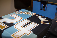 Paris Cowan-Hall of Wycombe Wanderers shirt in print during the Sky Bet League 2 match between Wycombe Wanderers and Leyton Orient at Adams Park, High Wycombe, England on 23 January 2016. Photo by Andy Rowland / PRiME Media Images.