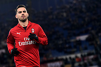 Suso of AC Milan warms up head the Serie A 2018/2019 football match between AS Roma and AC Milan at stadio Olimpico, Roma, February 3, 2019 <br />  Foto Andrea Staccioli / Insidefoto