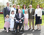 Grainne Delany with her family at Julianstown church on first communion day.