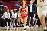 College Park, MD - March 23, 2019: Radford Highlanders guard Jen Falconer (5) with the ball during first round action of game between Radford and Maryland at Xfinity Center in College Park, MD. Maryland defeated Radford 73-51. (Photo by Phil Peters/Media Images International)