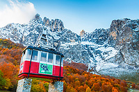 cable car monument, mountain, Tanarrio, Picos de Europa National Park, Liebana, Cantabria, Spain