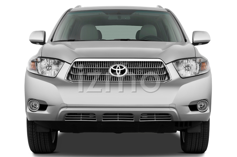 Straight front view of a 2009 Toyota Highlander Hybrid Limited