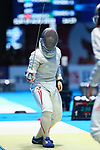 €Norika Tamura (JPN), <br /> AUGUST 19, 2018 - Fencing : <br /> Women's Individual Sabre Round of 16 <br /> at Jakarta Convention Center Cendrawasih <br /> during the 2018 Jakarta Palembang Asian Games <br /> in Jakarta, Indonesia. <br /> (Photo by Naoki Nishimura/AFLO SPORT)