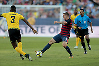 Santa Clara, CA - Wednesday July 26, 2017: Jordan Morris during the 2017 Gold Cup Final Championship match between the men's national teams of the United States (USA) and Jamaica (JAM) at Levi's Stadium.