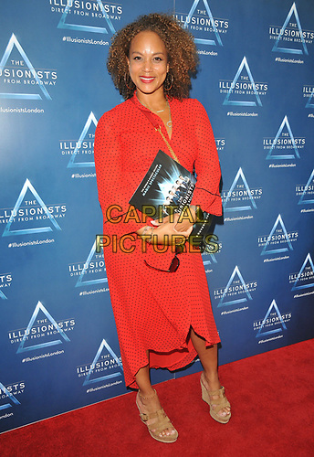 """Angela Griffin at the """"The Illusionists"""" show press night, Shaftesbury Theatre, Shaftesbury Avenue, London, England, UK, on Wednesday 10th July 2019.<br /> CAP/CAN<br /> ©CAN/Capital Pictures"""