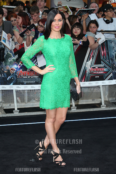 Linzi Stoppard arriving for the Avengers: Age Of Ultron premiere, at Westfield Shepherd's Bush, London. 21/04/2015 Picture by: Alexandra Glen / Featureflash