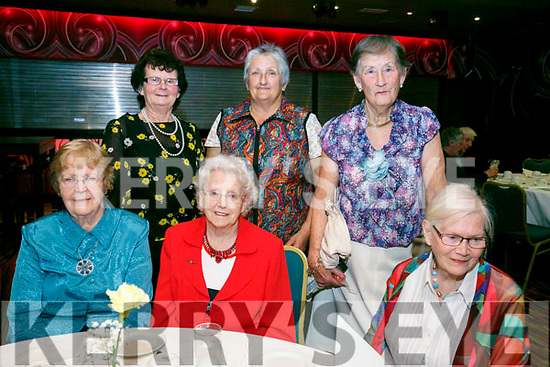 Enjoying the Irish Red Cross Tea Party to mark  World Red Cross Day at the Grand Hotel on Sunday were front l-r Marie Barron, Patsy Quirk, Marie O'Keeffe, Back l-r Marie Goodwin, Bridget Lehan, Patricia Canning