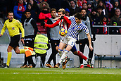 2nd December 2017, Wanda Metropolitano, Madrid, Spain; La Liga football, Atletico Madrid versus Real Sociedad; Igor Zubeldia (5) Real Sociedad's player and Antonie Griezmann (7) Atletico de Madrid's player
