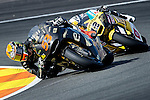 The rider Esteve Rabat during Moto2 race in Valencia. 2014/11/09. Spain. Samuel de Roman / Photocall3000.