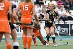 GER - Mannheim, Germany, May 25: During the U16 Girls match between The Netherlands (orange) and Germany (black) during the international witsun tournament on May 25, 2015 at Mannheimer HC in Mannheim, Germany. Final score 1-1 (1-0). (Photo by Dirk Markgraf / www.265-images.com) *** Local caption *** Emily Kerner #17 of Germany