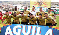 TUNJA – COLOMBIA, 12-10-2018: Jugadores del Rionegro posan para una foto previo al encuentro entre Patriotas Boyacá y Rionegro Aguilas por la fecha 14 de la Liga Águila II 2018 realizado en el estadio La Independencia de Tunja. / Players of Rionegro pose to a photo prior the match between Patriotas Boyaca and Rionegro Aguilas for the date 14 of Aguila League II 2018 played at La Independencia stadium in Tunja. Photo: VizzorImage / Jose Palencia / Cont