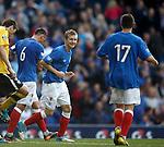 Robbie Crawford celebrates his goal