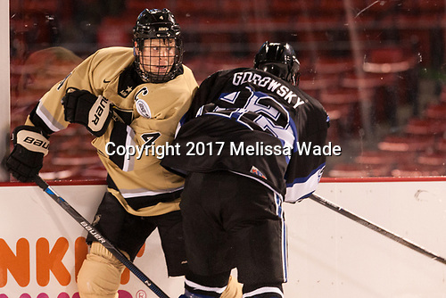 Ryan Nick (Army - 4), Ryner Gorowsky (Bentley - 22) - The Bentley University Falcons defeated the Army West Point Black Knights 3-1 (EN) on Thursday, January 5, 2017, at Fenway Park in Boston, Massachusetts.The Bentley University Falcons defeated the Army West Point Black Knights 3-1 (EN) on Thursday, January 5, 2017, at Fenway Park in Boston, Massachusetts.