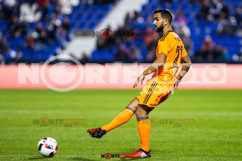 "Valencia's Martin Montoya during the match of ""Copa del Rey"" between CD Leganes and Valencia CF at Butarque Stadium in Leganes, Spain. November 29, 2016. (ALTERPHOTOS/Rodrigo Jimenez) /NORTEPHOTO.COM"